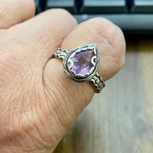 Retired Silpada Cathedral Amethyst Ring